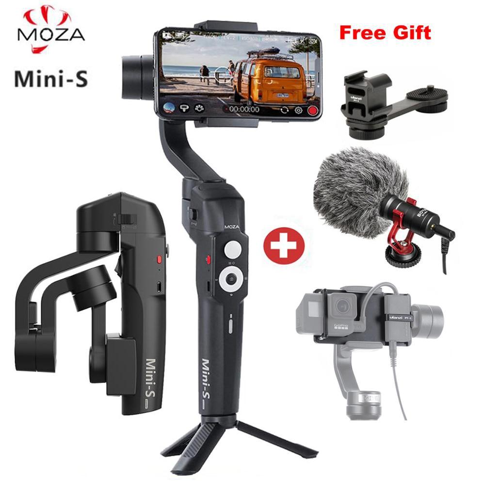 2019 MOZA Mini S stabilisateur de cardan portable 3 axes pliable pour IOS10.0 iPhones Andriod 8.1 ou plus téléphones intelligents avec cadeau
