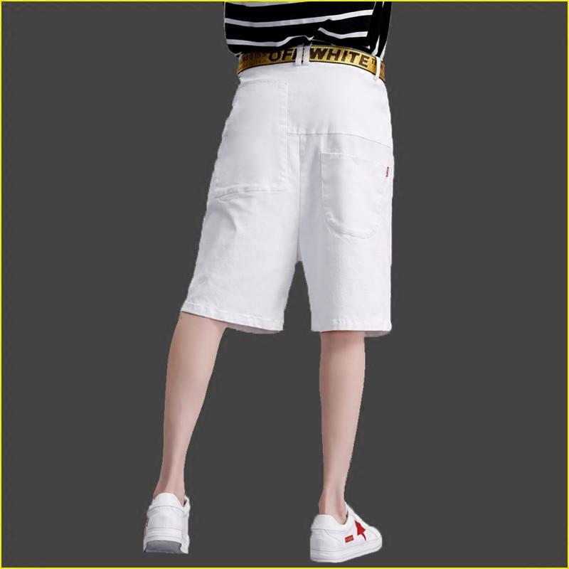Mujeres Pantalones Bolsillos Blanco Agujero Femenino Las Verano Anchos De 2017 Denim Flash Rodilla Marca Personalizado Confeitaria fwIT7qXtxx