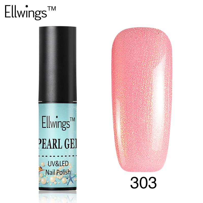 ellwings shiny pearl gel nail polish