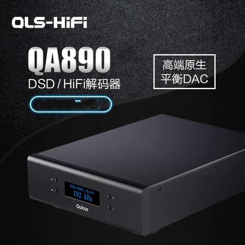 QLS QA890 OLED Native HiFi Balanced Decoder DAC USB RCA Coaxial DOP Hardware Solutions PCM DSD 24Bit 192KHz 192KHz DSD64 gustard a20h dual ak4497 xmos usb pcm dsd dop dac decoder and class a full balanced amplifier