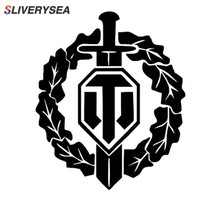 SLIVERYSEA Reflective Personality WORLD OF TANKS Car Sticker The Whole Body Decoration Decal Black/Silver #B1001