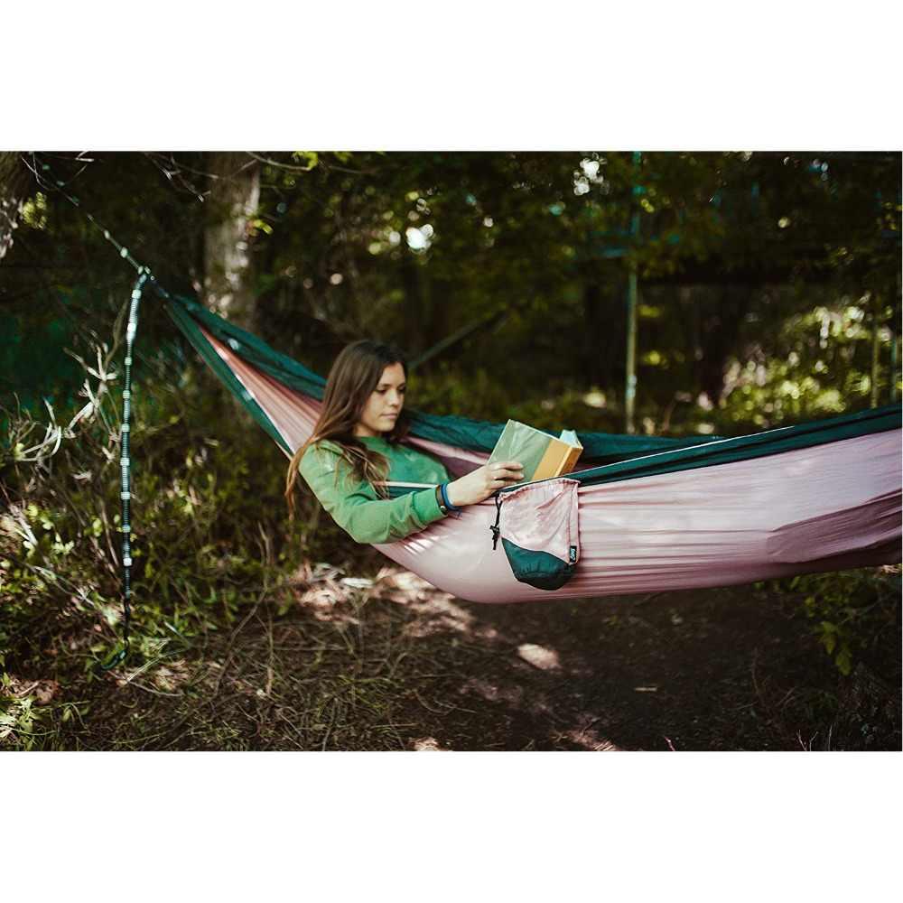 Двойной Сверхлегкий гамак для кемпинга с ремни для дерева нейлон портативный дышащий гамак мебель для улицы легко установить качели гамак