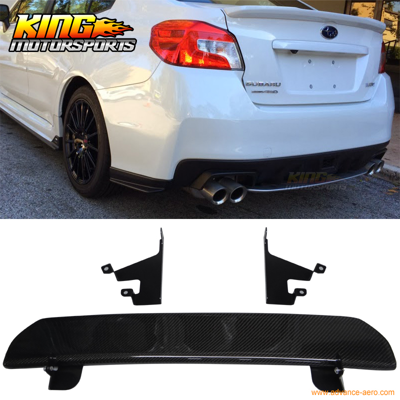 Fit For 2015 2016 Subaru WRX STI 4Dr Rear Bumper Lip Diffuser Carbon Fiber CF