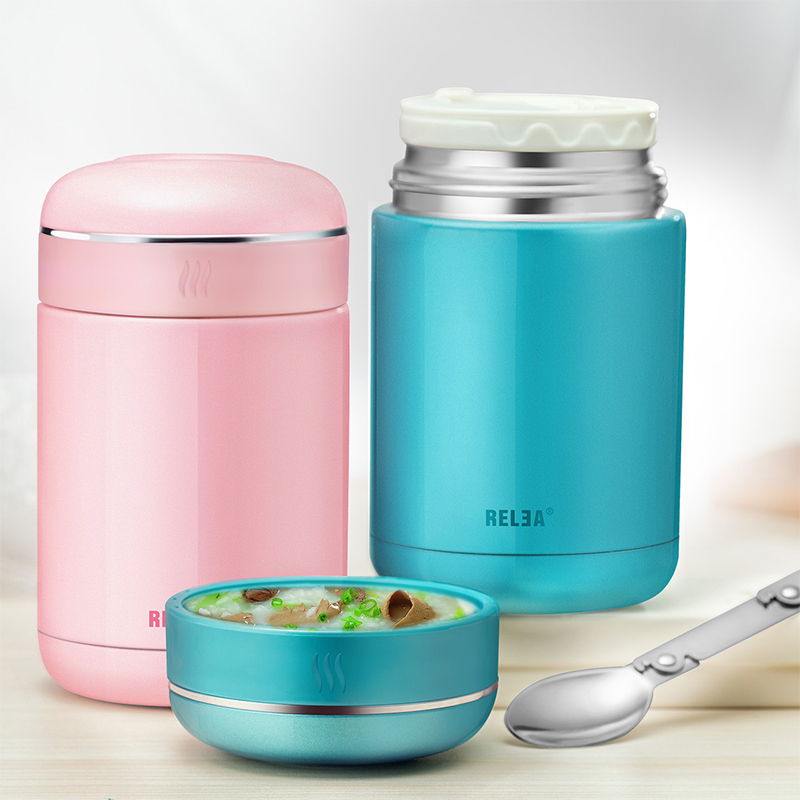 thermos stainless steel lunch box for kids girls vacuum insulated food container soup mug with. Black Bedroom Furniture Sets. Home Design Ideas