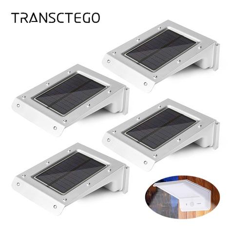 4 pcs 20 luzes led solar sensor de movimento sem fio a prova d agua