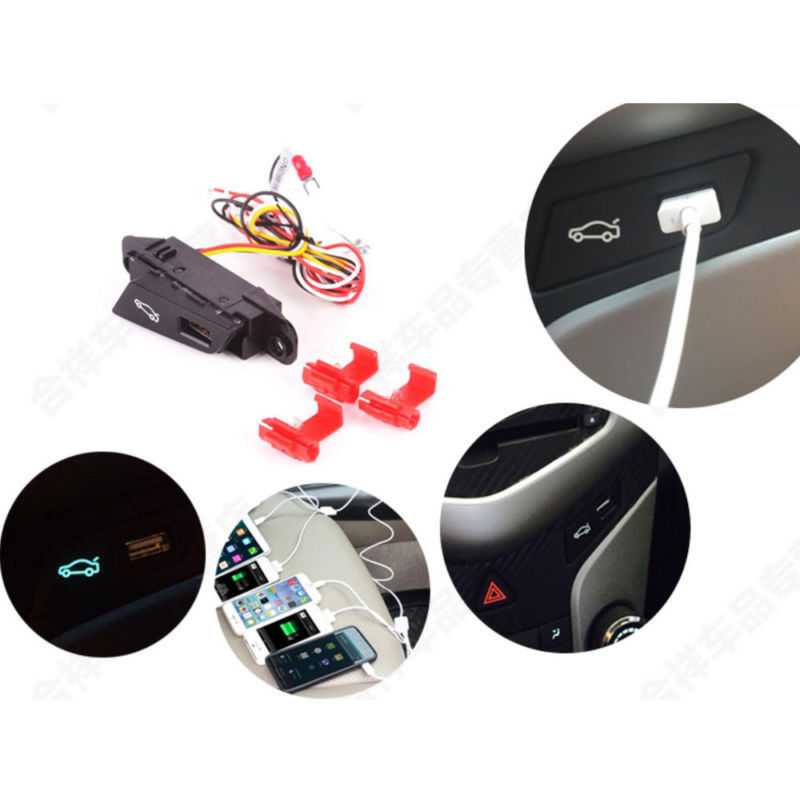 BBQ@FUKA  Car-styling For 2009-2013 Chevrolet Cruze LHD Car Trunk Switch Assembly Luggage Refit Button USB Connector Accessories