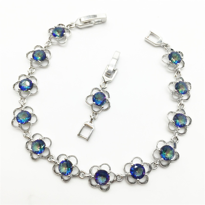 Charm Fashion 2015 New Jewelry Accessories Women's Bracelets & bangles Blue Rainbow Mystic Silver fashion jewelry женское платье fashion 2015 fashion 2015