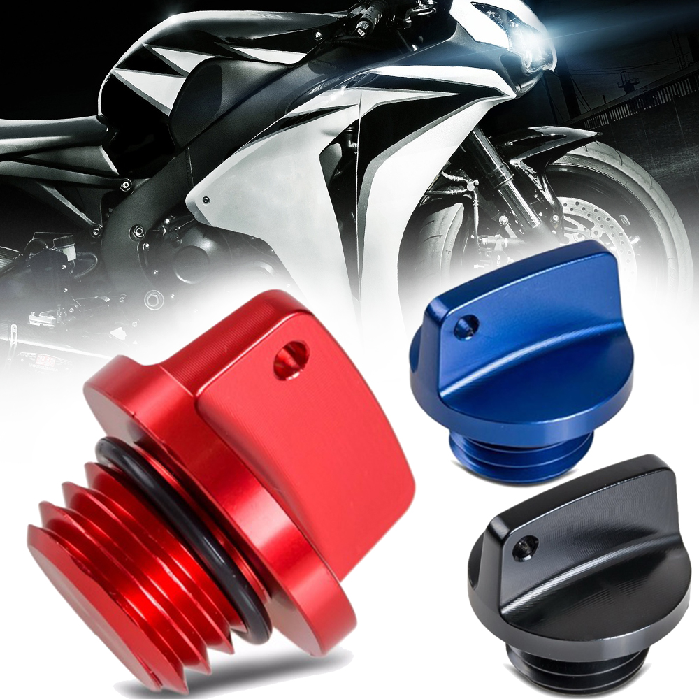 Cap-Plug Oil-Filler Motorcycle-Accessories M20x2.5 Kawasaki Aluminum Suzuki Yamaha