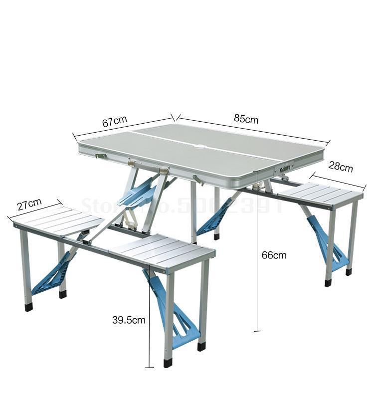 Folding Table Outdoor Connected Table And Chair One Office Table Portable Portable Hand-held Exhibition Industry Picnic Set Alum