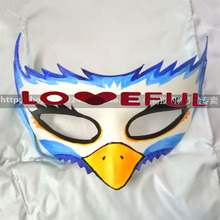 New Quality Handmade DIY Mask Halloween Blue Eagle Mask Cosplay Costume Paper Mache Pulp Mask