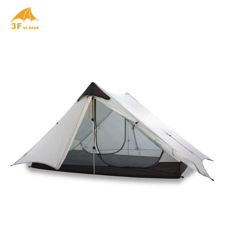 3F UL GEAR LanShan 2 personnes Oudoor ultra-léger tente de Camping 3 saisons professionnel 15D Silnylon tente sans fil - 3