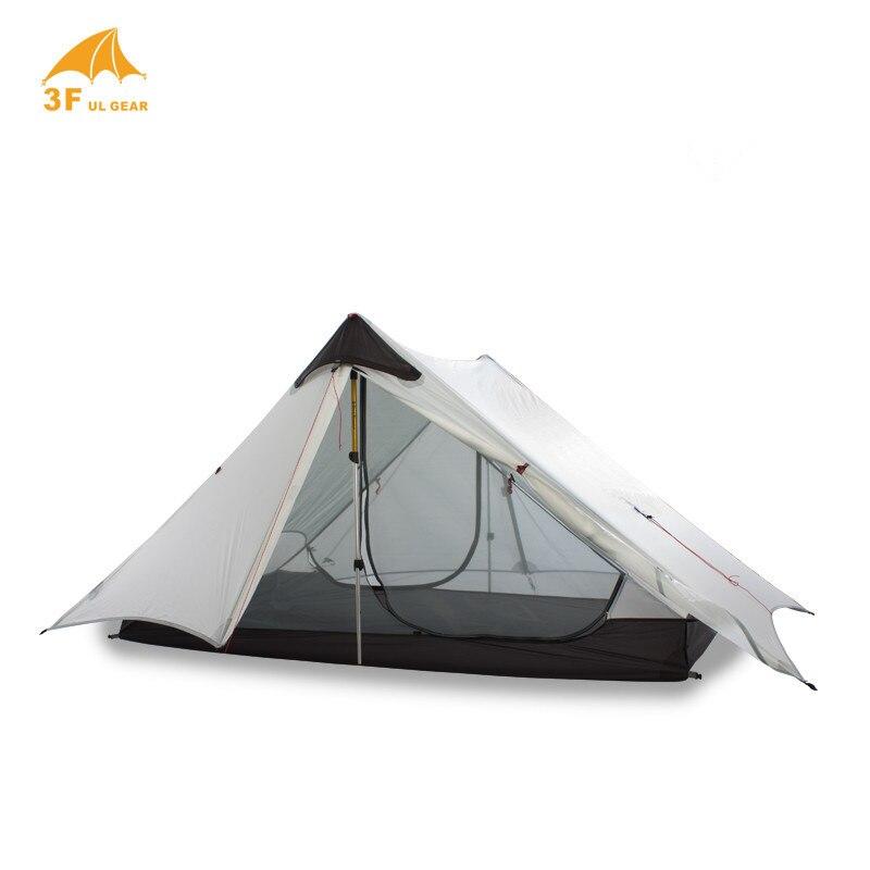 LanShan 2 3F UL GEAR 2 personnes 1 personne en plein air ultra-léger tente de Camping 3 saisons 4 saisons professionnel 15D Silnylon tente sans fil - 5