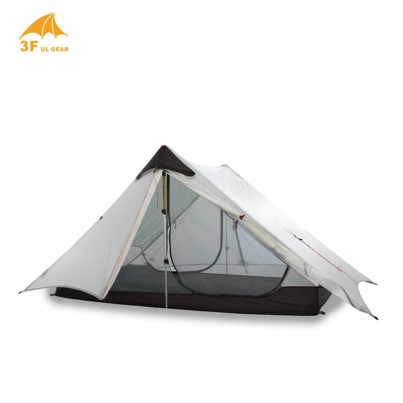 LanShan 2 3F UL biegów 2 osoby 1 osoba na zewnątrz Ultralight kemping namiot 3 sezon 4 sezon profesjonalny 15D Silnylon sztoku namiot