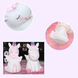 Image 3 - Unicorn karikatür sevimli anahtar toka yumuşak Hairball hayvan bebek çanta süsler kız en iyi hediyeler küçük çan benzersiz ucuz sevimli oyuncak