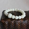 2016 новая тенденция оптовая продажа белый бодхи браслет для женщин мужчины природных тибетский мала бусины ювелирные изделия ручной работы буддизм стиль