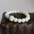 2016 New Trend Wholesale White Bodhi Seeds Bracelet For Women Men Natural Tibetan Mala Beads Handcrafted Jewelry Buddhism Style