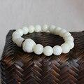 2016 nova tendência atacado branco Bodhi sementes pulseira para mulheres homens Natural tibetano Mala Beads jóias artesanais estilo budismo