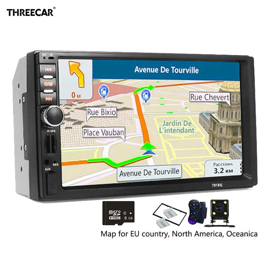 7018G GPS Navigation 2 Din font b Car b font font b Radio b font font