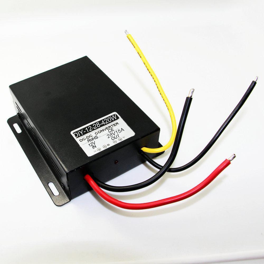 Converter Regulator Module DC 12V Step Up To DC 28V 15A 420W Boost Power 10pcs wholesale 1pcs dc dc step up converter boost 2a power supply module in 2v 24v to out 5v 28v adjustable regulator board dropship