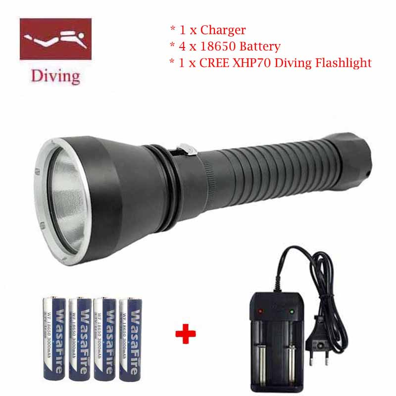 FDP50 Diving Torch XHP70 LED Diving flashlight Waterproof lamp Submersible lamp Work underwater Torch Diving light Flashlight 6000lumens bike bicycle light cree xml t6 led flashlight torch mount holder warning rear flash light