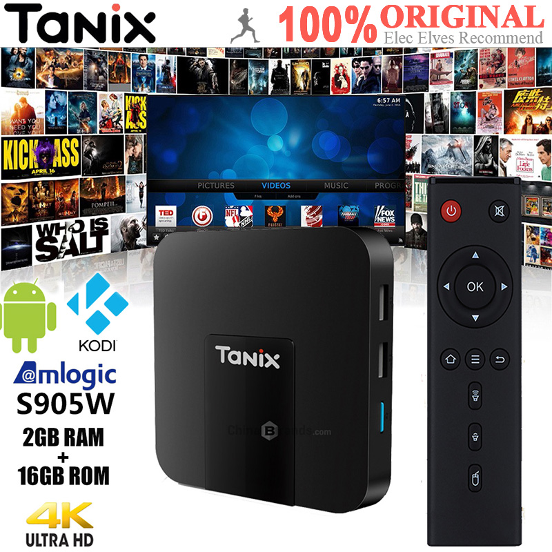 Original Tanix TX3 Mini TV Box 4 K HD S905W 2,4 GHz WiFi Android 7,1 2 GB RAM 16 GB ROM Set Top caja receptores de TV con Control remoto