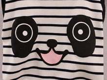 2-Piece Striped Panda – Summer Clothing Set