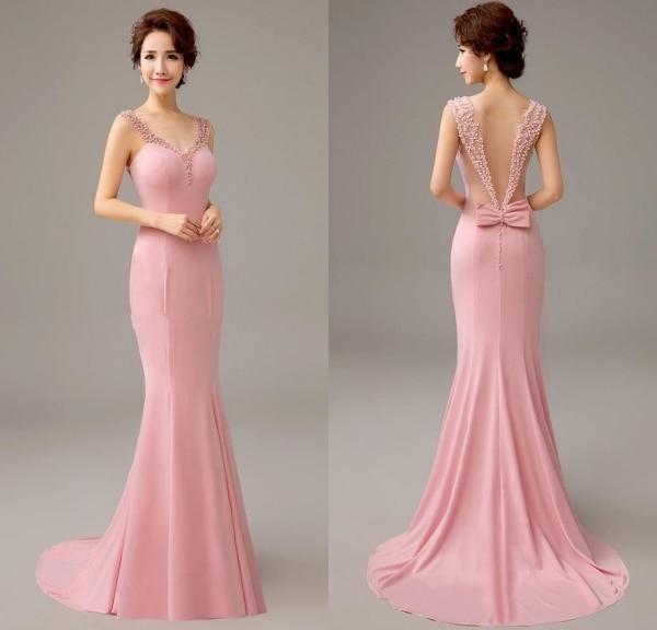 vestido sereia rosa vender por atacado - vestido sereia