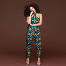0546b5c03 Africa Clothing Women Jumpsuit Ethnic Style Printed Sexy Fashion Sleeveless  Vest Strapless Long Pants Female Plus Size M-XXXL