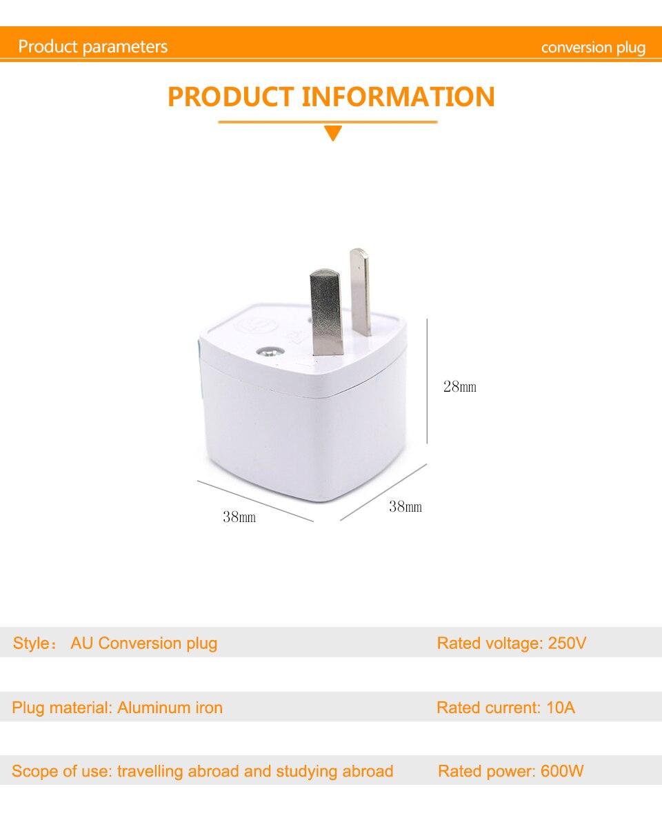 1PC Universal UK US AU EU AC Power Socket Plug Travel Electrical Charger Adapter Converter Japan China America Italy Switzerland (9)