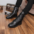 New Men's Leather Motorcycle Boots British Fashion Man Martin Boots Genuine Leather Wear-resisting Tall Canister Boots