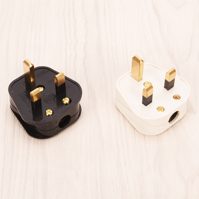 1 Pcs Black 3 Pin UK Mains Top Plug 13A 230V Appliance Power Socket Fuse Adapter Household High Quality
