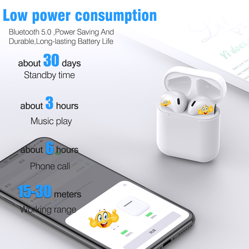 New i20 TWS Pop-up W1 Chip 1:1 Bluetooth Earphone 6D Super Bass Sound  Earbuds Wireless Earphones i20tws PK i10 i20 i60 i80 i12