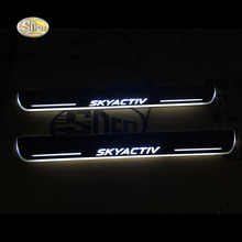SNCN LED door sill for Mazda 6 2014-2016 Led moving lights scuff plate welcome light Welcome pedal