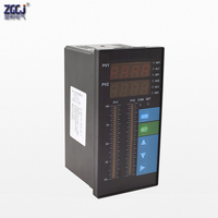4 20mA DC input dual channels water liquid level pressure controller with 4 ways relay and DC24V out water liquid level meter