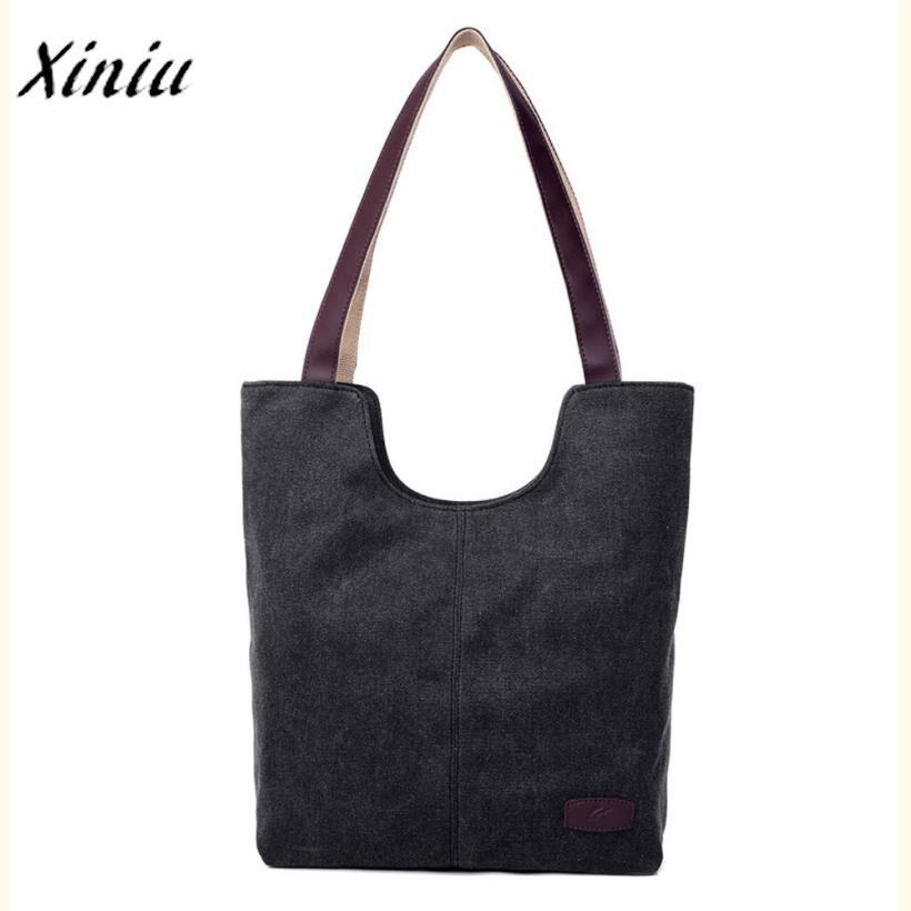 Xiniu women's handbags bolsas feminina vintage casual female shoulder designer shopping handbag canvas shoulder messenger bags