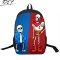 Hot Game Undertale Children Book Bag 3D Cartoon School Bags for Teenagers Women Men Travel Backpacks Daily Mochilas