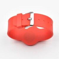 100 шт./лот 13.56 МГц RFID Браслет Браслет MF 1 К S50 Близость Водонепроницаемый Силиконовый NFC Smart Watch Типа для Контроля Доступа