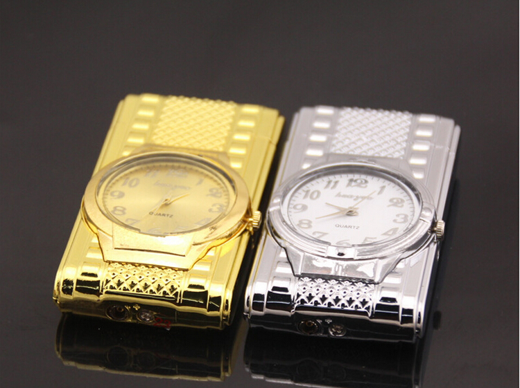 1pc creative watch lighter electronic watches windproof LIGHTER for cigarette accessary as gitt for men/women