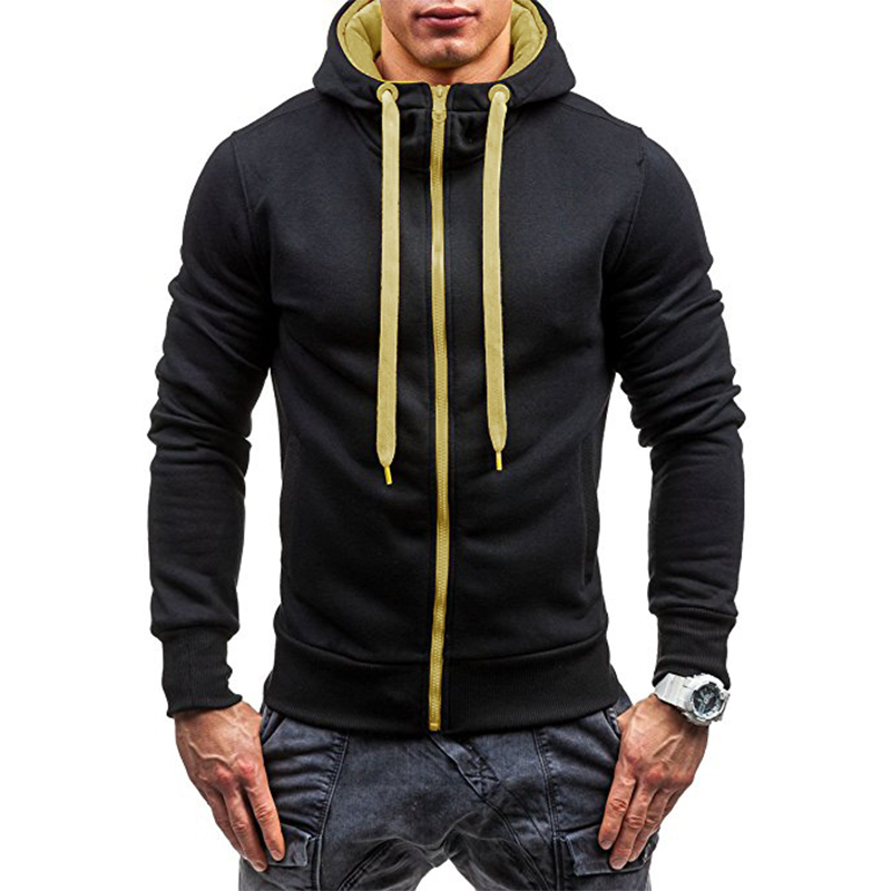 Hoodies Men 2017 Fashion Brand Sudaderas Hombre Hip Hop Mens Solid Color Turtleneck Pullover Hoodie Sweatshirt