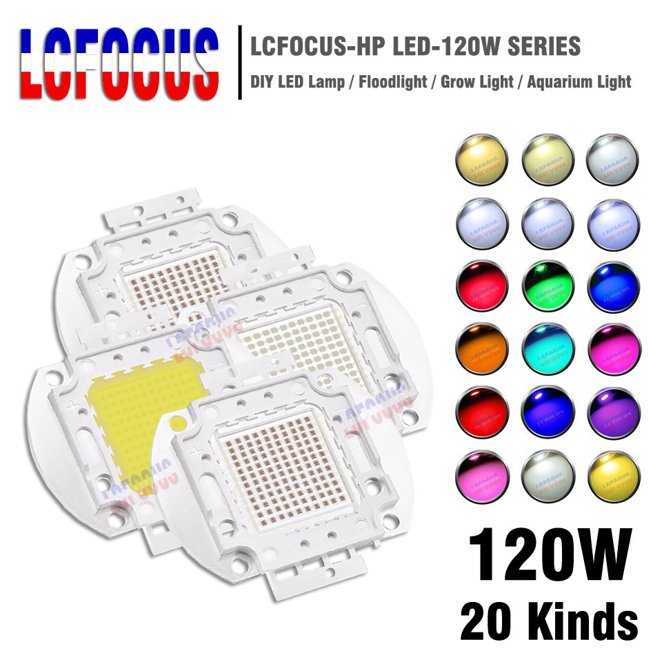 High Power 120W LED Chip COB Diode Natural Cool Warm White Yellow RGB Red Green Blue Full Spectrum For DIY 120 W Watt Floodlight