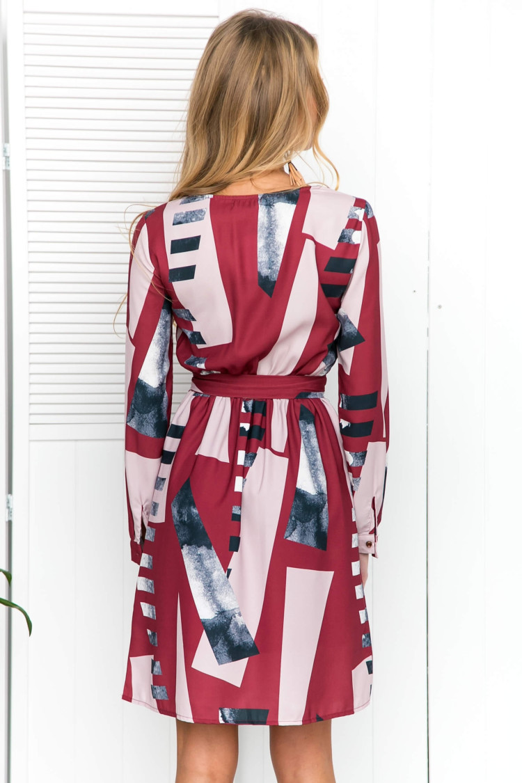 clothes women dress new ladies female print casual o neck autumn elegance retro style festivals womens chic dresses in Dresses from Women 39 s Clothing