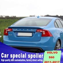 цена на high quality spoiler For volvo s60 s60L 2011 2012 2013 2014 2015 2016 20142017 rear spoiler by DIY primer paint or black white