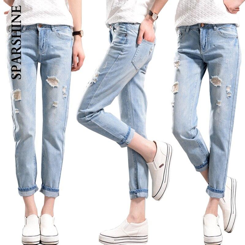 sparshine women jeans high waist pencil pants female light denim pants SPARSHINE brand high waist jeans femme plus size