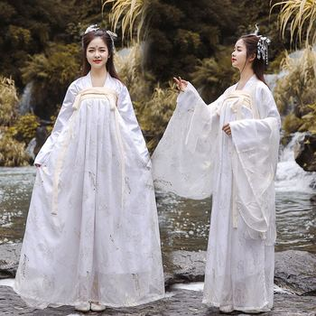 High Quality Fairy White Hanfu For Women Adult Chinese Ancient Costumes Female Lady Cosplay Performance Stage Costumes BL1545