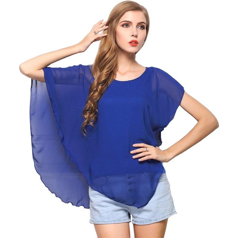 Blusas delle Donne 2018 Falso in Due Pezzi Top in Jersey Su Ordinazione di Colore Dell'increspatura Irregolare Senza Maniche In Chiffon Top abiti HT1