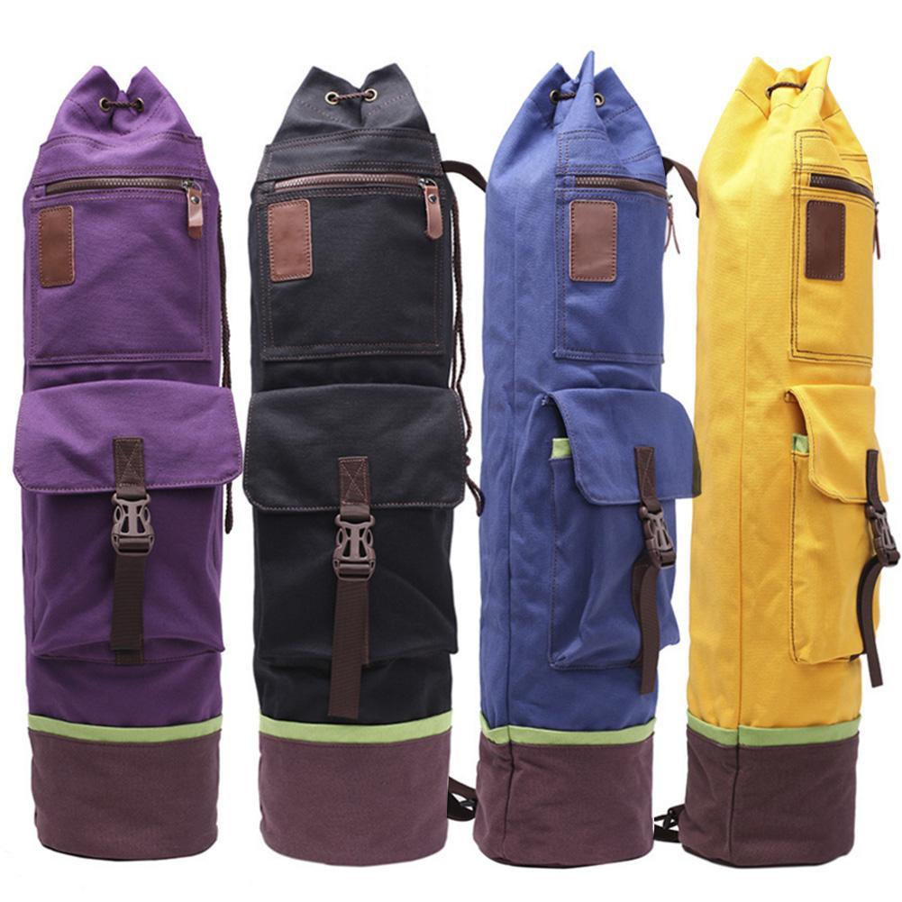 @1  Многофункциональный легкий тренажерный зал фитнес-сумка рюкзак утолщенные холст йога пилатес мат рюк ①