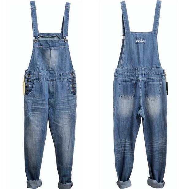 dbb0c3eff84 placeholder Adult One Piece Denim Jumpsuit Men Overalls Jumpsuit Bib Pants  Suspender Jeans Long Pants Dark Blue