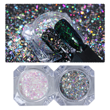 Holographic Nail Glitter Sequins Colorful Nail Flakes Mixed