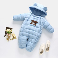 Baby Winter Clothes Baby Outwear Boy Girl Thick Warm Duck Down Winter Baby Snowsuit Cute Hooded Clothes Suit Animal Style