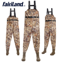 41 46 size Chest high wader with wading boots Taiwan Nylon shell PVC linning fishing waders fly fishing gear bootfoot wader